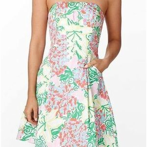 Lilly Pulitzer Mariposa strapless dress pockets 8